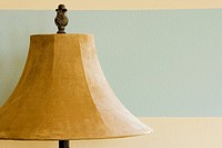 Tan Suede Lamp Shade