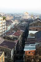 Rooftops, Yangon, Myanmar Burma