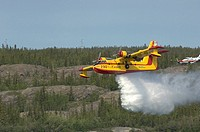 CL-215 Water Bomber in an Airshow Yellowknife, NT