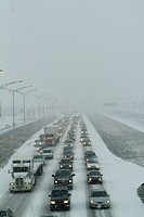 Highway Traffic in Winter