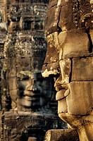 Faces of Avalokiteshvara, Temples of Angkor, Cambodia