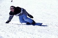 Snowboarder Making A Turn