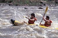 Couple Kayaking Colorado River Moab Utah