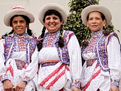 Women in traditional dress. Lima. Peru