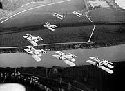 evoluzioni aeree di caccia fiat cr30, 1930