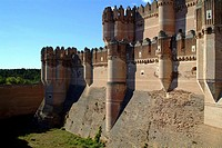 Castle of Coca (15th century). Segovia province, Castilla-León, Spain. South façade
