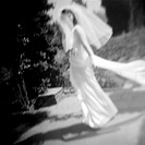 Blurry Bride in Garden