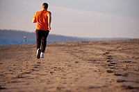 Man Running on Sand