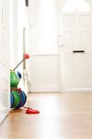 Baby toy in hallway