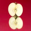 Close_up of half an apple