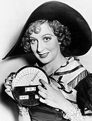 Portrait of a young woman in a hat holding a newly invented speedometer All persons depicted are not longer living and no estate exists Supplier warra...