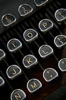 Typewriter keyboard, high angle view