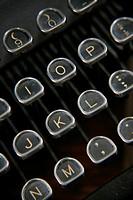 Typewriter keyboard, high angle view