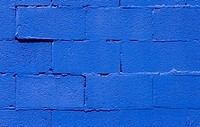 Blue brick wall, close-up