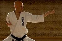 Karate man standing