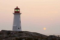 Peggy's Cove lighthouse. Nova Scotia, Canada