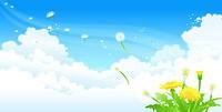 Flowers blowing away in wind