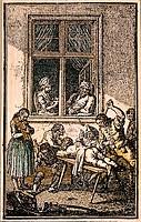 Strafe, Folter, öffentliche Strafe, Prügelstrafe, 18 Jahrhundert Deutschland,
