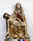 fine arts, Riemenschneider, Tilman circa 1460 - 1531, pieta, sculpture, wood, circa 1515, Franciscan church, Würzburg, Bavaria, Jesus Christ, death, m...