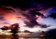 Cloudscape over the sea, Sipadan, Borneo, Malaysia