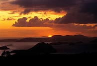 Sunset over the sea, West End, Tortola, British Virgin Islands