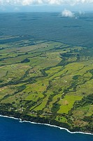 Aerial view of a landscape, Hilo, Big Island, Hawaii Islands, USA