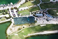 Aerial view of tennis court, Florida Keys, Florida, USA