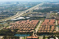 Aerial view of a city, Orlando, Florida, USA