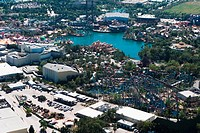 Aerial view of buildings, Orlando, Florida, USA