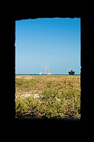 Landscape as viewed from a window, Fort Zachary Taylor, Key West, Florida, USA