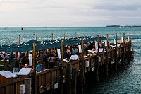 Group of people on a pier, Mallory Square, Key West, Florida, USA