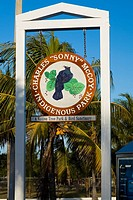 Low angle view of an entrance signboard, Sonny McCoy Indigenous Park, Key West, Florida, USA