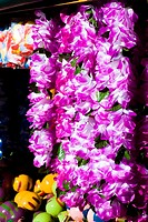 Close-up of garlands, Key West, Florida, USA