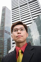 Businessman wearing eyeglasses, Singapore