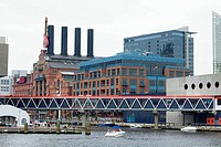 Buildings at the waterfront, Maritime Museum, National Aquarium, Inner Harbor, Baltimore, Maryland, USA