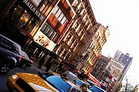 Traffic near buildings, New York City, New York State, USA (thumbnail)