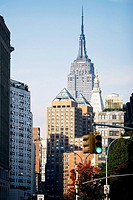 Buildings in a city, Empire State Building, Manhattan, New York City, New York State, USA