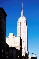 Low angle view of a building, Empire State Building, Manhattan, New York City, New York State, USA