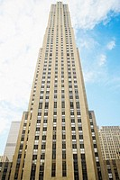 Low angle view of a building, Rockefeller Center, Manhattan, New York City, New York State, USA