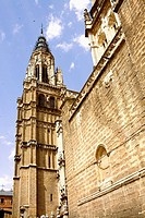 Low angle view of a cathedral, Cathedral Of Toledo, Toledo, Spain