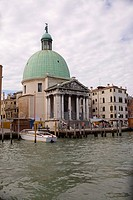 Church at the waterfront, Church of San Simeon Piccolo, Venice, Italy