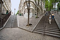 Steps on Montmartre hill, Paris, France