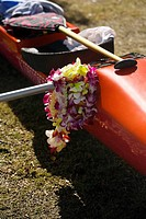 Close-up of a kayak, Honolulu, Oahu, Hawaii Islands, USA