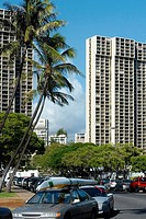 Skyscrapers in a city, Honolulu, Oahu, Hawaii Islands, USA