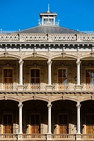 Low angle view of a government building, Iolani Palace, Honolulu, Oahu, Hawaii Islands, USA