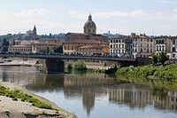 Bridge across a river, Arno River, Florence, Italy