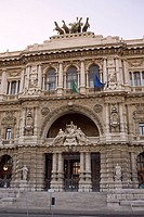 Facade of a palace, Palazzo Di Giustizia, Rome, Italy