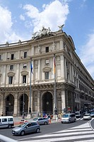 Traffic in front of a building, Piazza della Repubblica, Rome, Italy