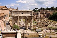 High angle view of a triumphal arch, Arch Of Constantine, Rome, Italy