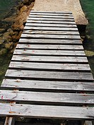 High angle view of a boardwalk, Providencia, Providencia y Santa Catalina (thumbnail)